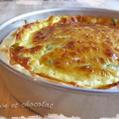 foto Crostata salata con stracchino, zucchine e pancetta