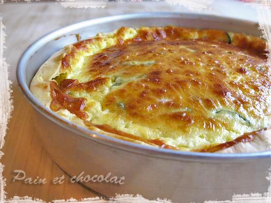 Crostata salata con stracchino, zucchine e pancetta